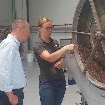 produzione cioccolato test center HDM