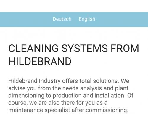 Nuovo sito Hildebrand Industry